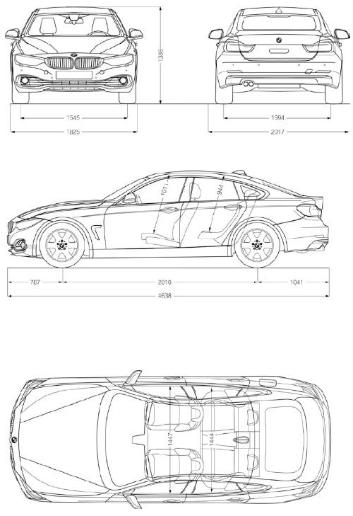 2014-BMW-4er-Gran-Coupe-F36-Abmessungen-Laenge-Breite-Hoehe