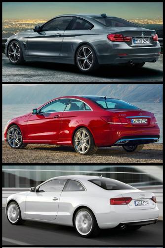 BMW-4er-F32-Bild-Vergleich-Audi-A5-Mercedes-E-Klasse-Coupe-2013-Facelift-1-655x982-2