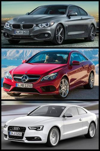 BMW-4er-F32-Bild-Vergleich-Audi-A5-Mercedes-E-Klasse-Coupe-2013-Facelift-2-655x982-2