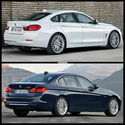 Bild-Vergleich-BMW-4er-Gran-Coupe-GC-F36-3er-F30-Limousine-Luxury-Line-02-655x655
