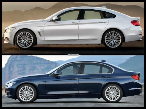 Bild-Vergleich-BMW-4er-Gran-Coupe-GC-F36-3er-F30-Limousine-Luxury-Line-03-655x490