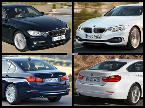 Bild-Vergleich-BMW-4er-Gran-Coupe-GC-F36-3er-F30-Limousine-Luxury-Line-04-655x490