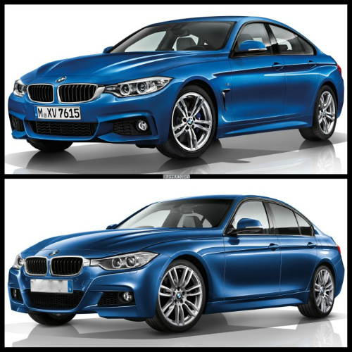 Bild-Vergleich-BMW-4er-Gran-Coupe-GC-F36-3er-F30-Limousine-M-Paket-655x655